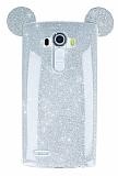 Eiroo Ear Sheenful LG G4 Silver Silikon Kılıf