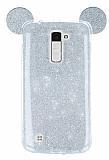 Eiroo Ear Sheenful LG K10 Silver Silikon Kılıf