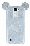 Eiroo Ear Sheenful LG K8 Silver Silikon Kılıf