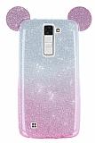 Eiroo Ear Sheenful LG K8 Pembe Silikon Kılıf