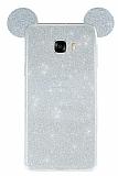 Eiroo Ear Sheenful Samsung Galaxy C5 Silver Silikon Kılıf