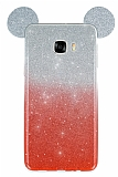 Eiroo Ear Sheenful Samsung Galaxy C5 Kırmızı Silikon Kılıf