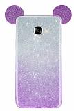 Eiroo Ear Sheenful Samsung Galaxy C7 SM-C7000 Mor Silikon Kılıf