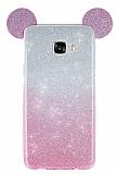 Eiroo Ear Sheenful Samsung Galaxy C7 SM-C7000 Pembe Silikon Kılıf