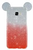 Eiroo Ear Sheenful Samsung Galaxy C7 SM-C7000 Kırmızı Silikon Kılıf