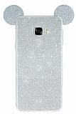 Eiroo Ear Sheenful Samsung Galaxy C7 SM-C7000 Silver Silikon Kılıf