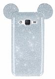 Eiroo Ear Sheenful Samsung Galaxy J2 Silver Silikon Kılıf