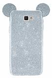 Eiroo Ear Sheenful Samsung Galaxy J5 Prime Silver Silikon Kılıf