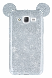 Eiroo Ear Sheenful Samsung Galaxy J5 Silver Silikon Kılıf