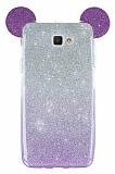 Eiroo Ear Sheenful Samsung Galaxy J7 Prime Mor Silikon Kılıf