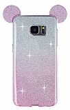 Eiroo Ear Sheenful Samsung Galaxy S7 Edge Pembe Silikon K�l�f