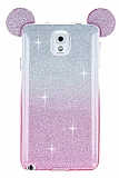Eiroo Ear Sheenful Samsung N9000 Galaxy Note 3 Pembe Silikon K�l�f