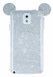 Ear Sheenful Samsung N9000 Galaxy Note 3 Silver Silikon Kılıf