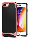 Eiroo Efficient iPhone 7 Plus / 8 Plus Kırmızı Kenarlı Ultra Koruma Kılıf