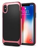 Eiroo Efficient iPhone X Kırmızı Kenarlı Ultra Koruma Kılıf