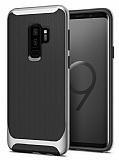 Eiroo Efficient Samsung Galaxy S9 Plus Silver Kenarlı Ultra Koruma Kılıf