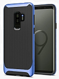 Eiroo Efficient Samsung Galaxy S9 Plus Mavi Kenarlı Ultra Koruma Kılıf