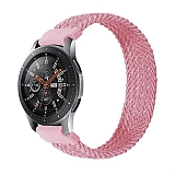 Eiroo Fabric Samsung Galaxy Watch 3 45 mm Pembe Kumaş Kordon