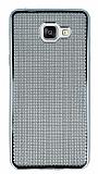 Eiroo Flashy Samsung Galaxy A5 2016 Metalik Silver Silikon Kılıf