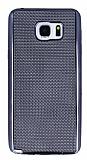 Eiroo Flashy Samsung Galaxy Note 5 Metalik Siyah Silikon Kılıf