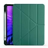 Eiroo Fold iPad Air 10.9 2020 Kalemlikli Standlı Koyu Yeşil Kılıf