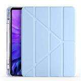 Eiroo Fold iPad Air 10.9 2020 Kalemlikli Standlı Mavi Kılıf