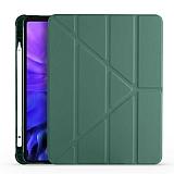 Eiroo Fold Samsung Galaxy Tab S7 Plus T970 Kalemlikli Standlı Yeşil Kılıf