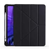 Eiroo Fold Samsung Galaxy Tab S7 Plus T970 Kalemlikli Standlı Siyah Kılıf