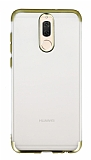 Eiroo Frosty Huawei Mate 10 Lite Gold Kenarlı Silikon Kılıf