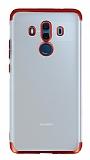 Eiroo Frosty Huawei Mate 10 Pro Kırmızı Kenarlı Silikon Kılıf
