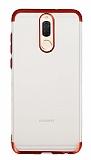 Eiroo Frosty Huawei Mate 10 Lite Kırmızı Kenarlı Silikon Kılıf
