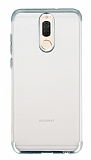 Eiroo Frosty Huawei Mate 10 Lite Silver Kenarlı Silikon Kılıf