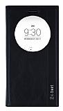 LG G4 Beat Gizli Mıknatıslı Pencereli Siyah Deri Kılıf