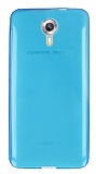 General Mobile Android One / General Mobile GM 5 Ultra İnce Şeffaf Mavi Silikon Kılıf