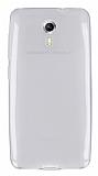 General Mobile Android One / General Mobile GM 5 Ultra İnce Şeffaf Beyaz Silikon Kılıf