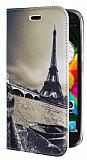 Eiroo General Mobile Discovery Eiffel Kulesi Gizli M�knat�sl� Standl� Deri K�l�f