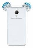 General Mobile GM 5 Plus Taşlı Kulaklı Mavi Silikon Kılıf