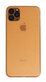 Eiroo Ghost Thin iPhone 11 Pro Ultra İnce Turuncu Rubber Kılıf