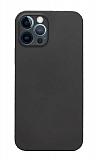 Eiroo Ghost Thin iPhone 12 Pro 6.1 inç Ultra İnce Siyah Rubber Kılıf