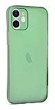 Eiroo Ghost Thin iPhone 12 Mini 5.4 inç Ultra İnce Yeşil Rubber Kılıf