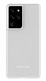 Eiroo Ghost Thin Samsung Galaxy S21 Ultra Beyaz İnce Rubber Kılıf
