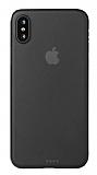 Eiroo Ghost Thin iPhone X / XS Ultra İnce Şeffaf Siyah Rubber Kılıf