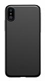 Eiroo Ghost Thin iPhone X / XS Ultra İnce Siyah Rubber Kılıf