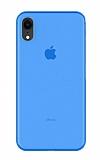 Eiroo Ghost Thin iPhone XR Ultra İnce Mavi Rubber Kılıf