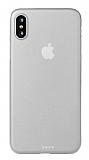 Eiroo Ghost Thin iPhone XS Max Ultra İnce Şeffaf Beyaz Rubber Kılıf