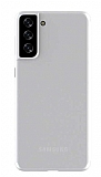 Eiroo Ghost Thin Samsung Galaxy S21 Beyaz İnce Rubber Kılıf