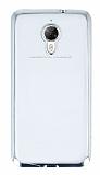 Eiroo Glace General Mobile GM 5 Plus Taşlı Silver Kenarlı Şeffaf Silikon Kılıf
