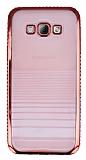 Eiroo Glace Samsung Galaxy A8 K�rm�z� Ta�l� Kenarl� �effaf Silikon K�l�f