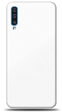 Eiroo Glass Samsung Galaxy A50s Silikon Kenarlı Cam Beyaz Kılıf