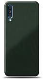 Eiroo Glass Samsung Galaxy A50s Silikon Kenarlı Cam Koyu Yeşil Kılıf